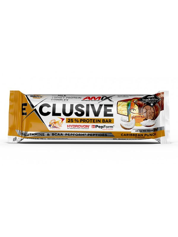 Amix Exclusive Protein Bar 85g Caribbean punch
