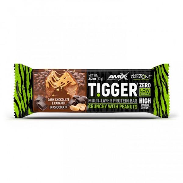 Amix TiggerZero Protein Bar 60g Dark Chocolate & Caramel