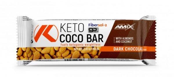 Amix KetoLean Keto Coco Bar 40g  Crna Čokolada