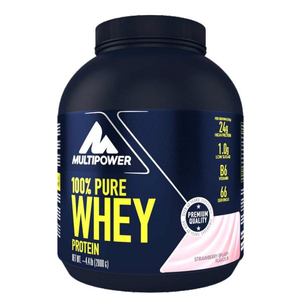 100% Pure Whey, Jagoda, 2 kg