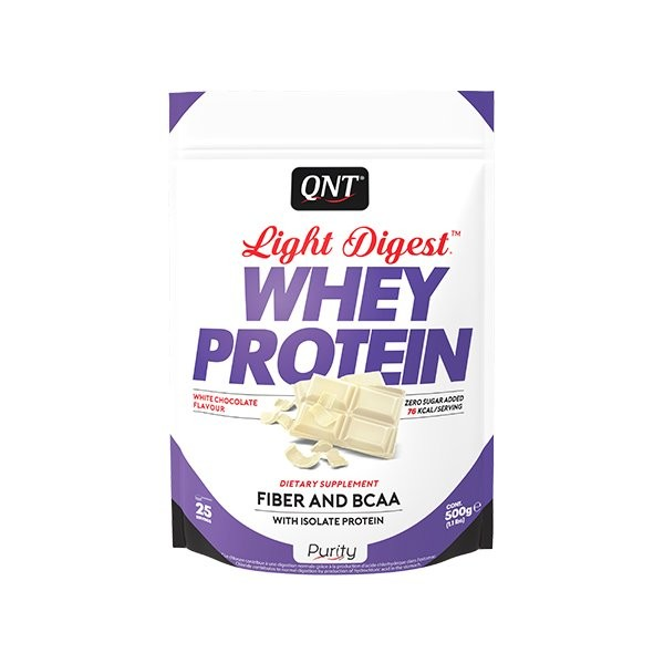 Light Digest Whey, Bela čokolada, 500 g