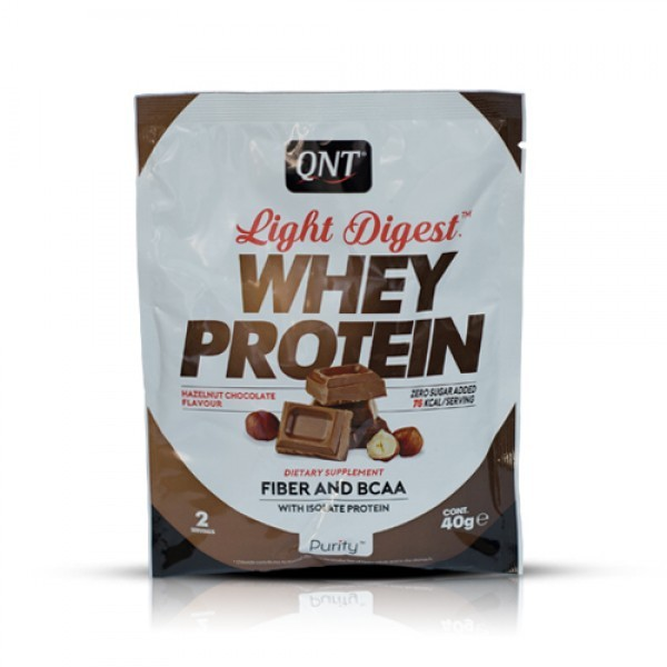 Light Digest Whey, Čokolada-lešnik, 40 g