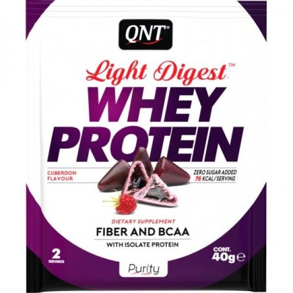 Light Digest Whey, Čokolada-malina, 40 g