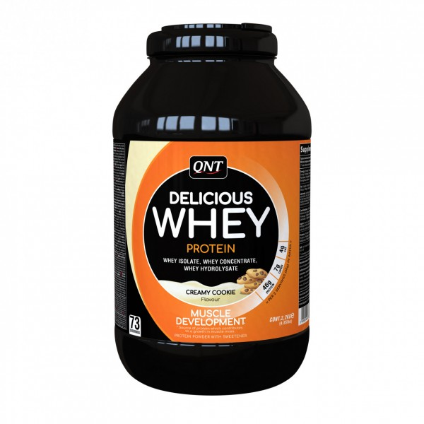 Delicious Whey Protein, Cookies & cream, 2,2 kg