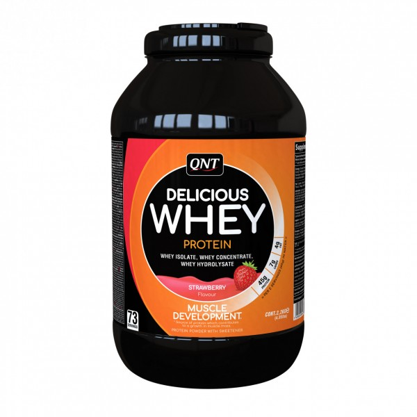Delicious Whey Protein, Jagoda, 2,2 kg