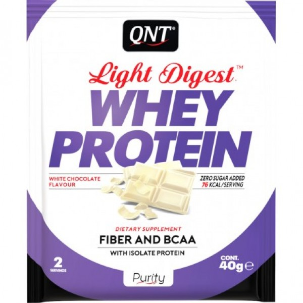 Light Digest Whey, Bela čokolada, 40 g