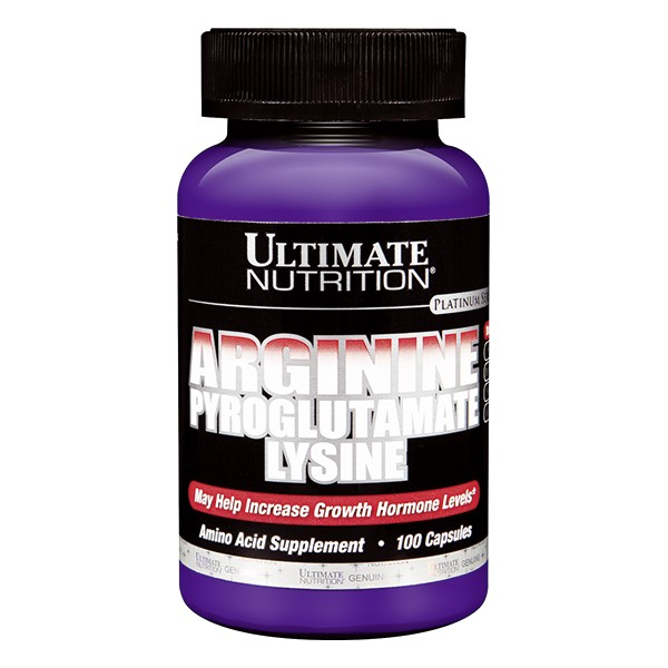 Ultimate Nutrition Arginin Pyroglutam Lysine, 100 kap