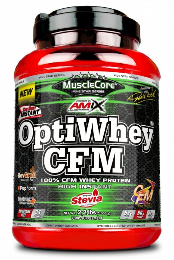 MuscleCore DW OPTI Whey CFM Dupla Čokolada, 1 kg