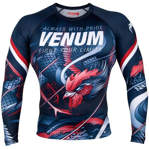 Venum-Rashguard DR Rooster Bl-Or XL