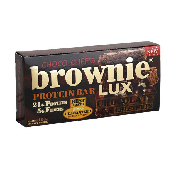 Brownie Protein Bar Lux Čokolada-kesten 100 g