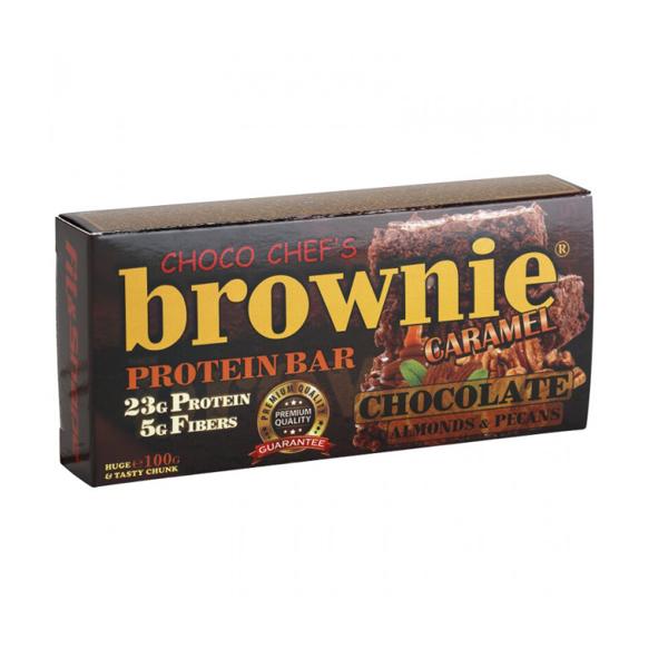 Brownie Protein Bar Čoko-karamel+badem 100 g