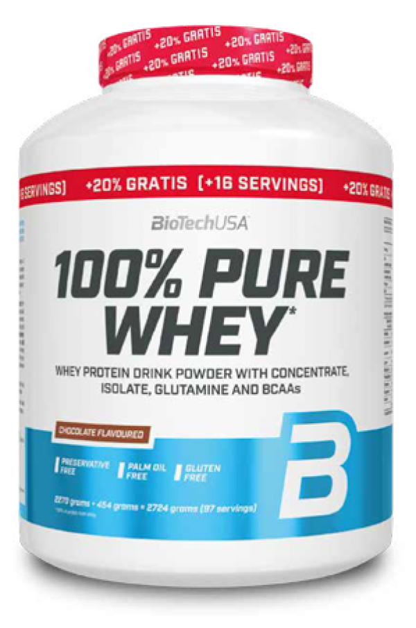 100% Pure Whey 2,27 kg+20% Čokolada
