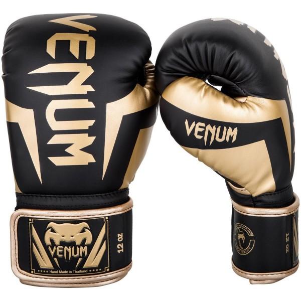 Rukavice za boks Venum Elite* B/Gold 14 OZ