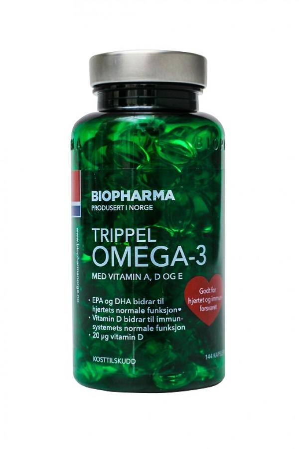Norveške Omega 3, 144 gel kapsule