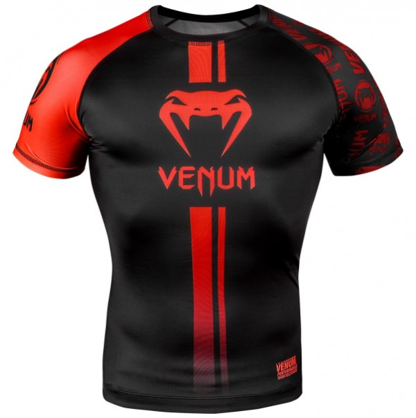 Venum Logos Rashguard KR XL B/R
