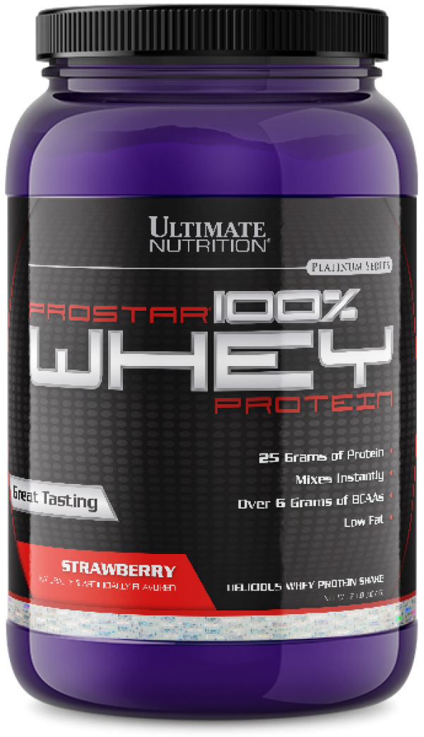 Ultimate Nutrition - 100% Whey Prostar, Jagoda, 907 g