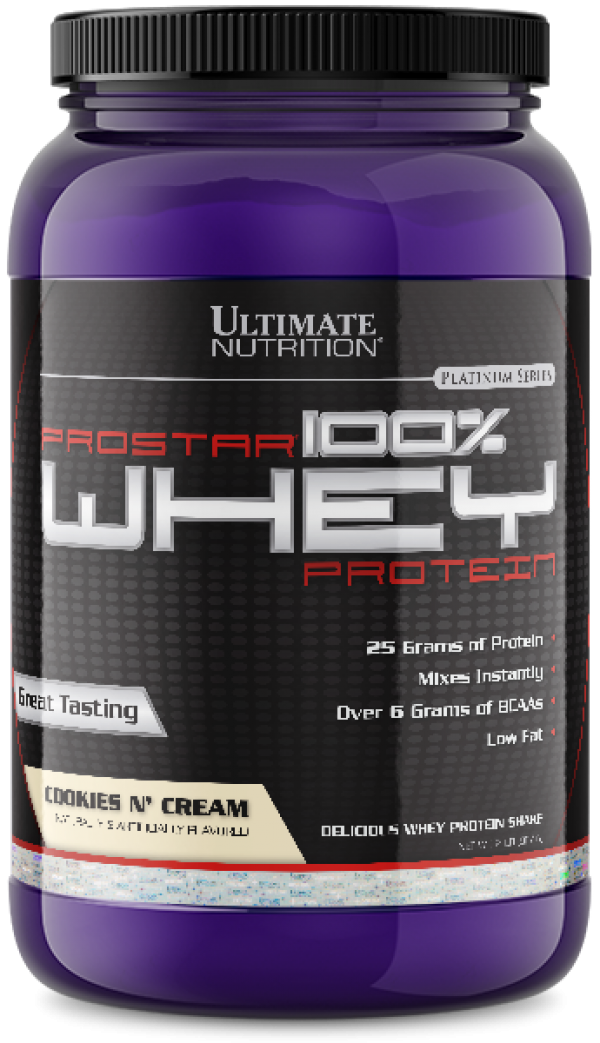 Ultimate Nutrition - 100% Whey Prostar, Cookies & creme, 907 g