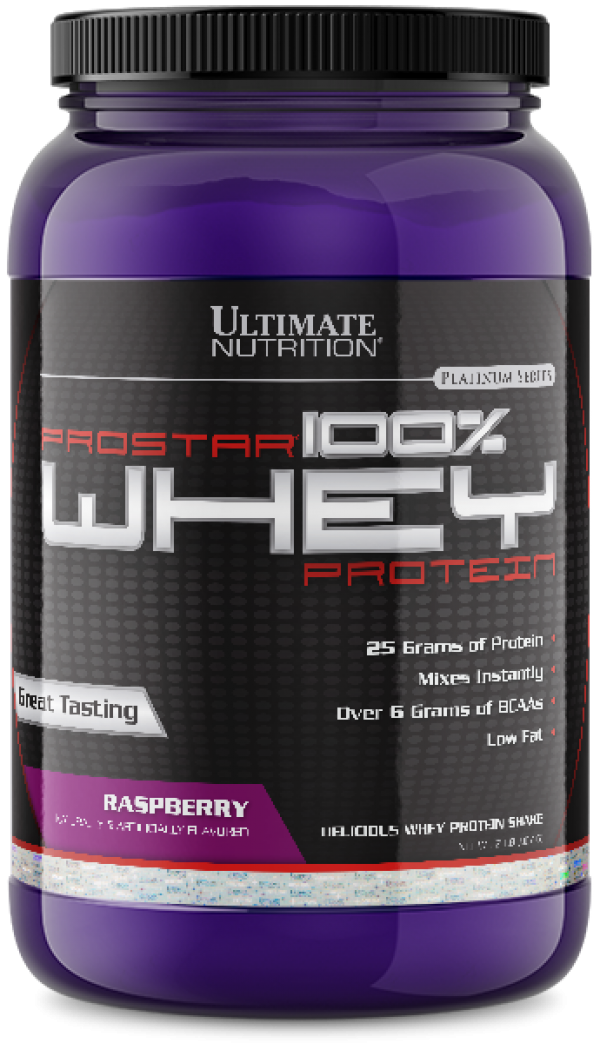 Ultimate Nutrition - 100% Whey Prostar, Malina, 907 g