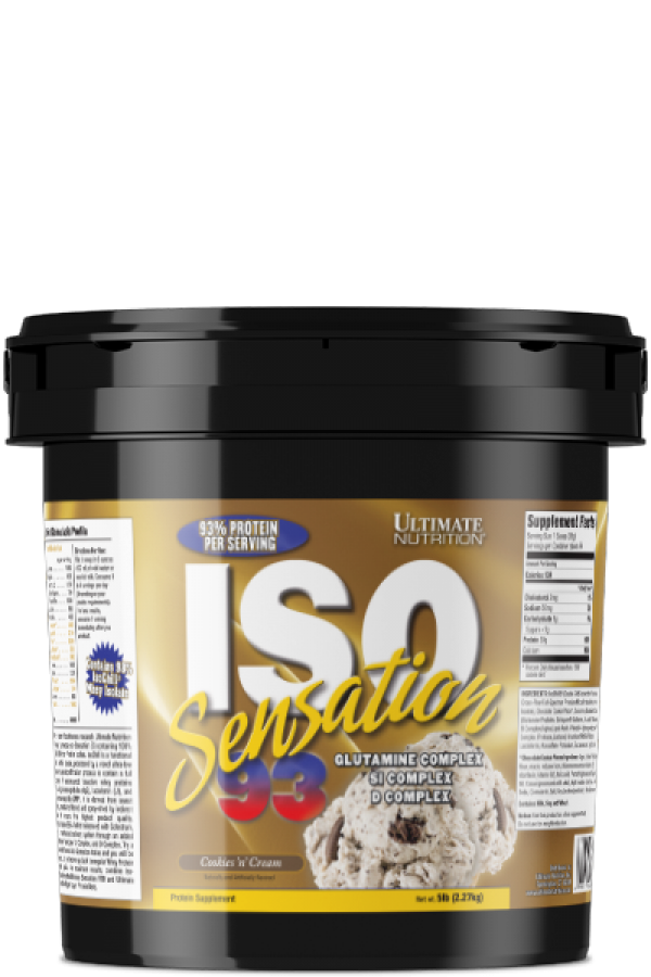 Ultimate Nutrition Iso  Sensation 93, Cookies & cream, 2,2kg