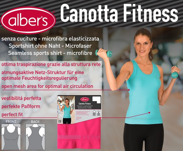 Albers Canotta Fit Majica Pink S-M