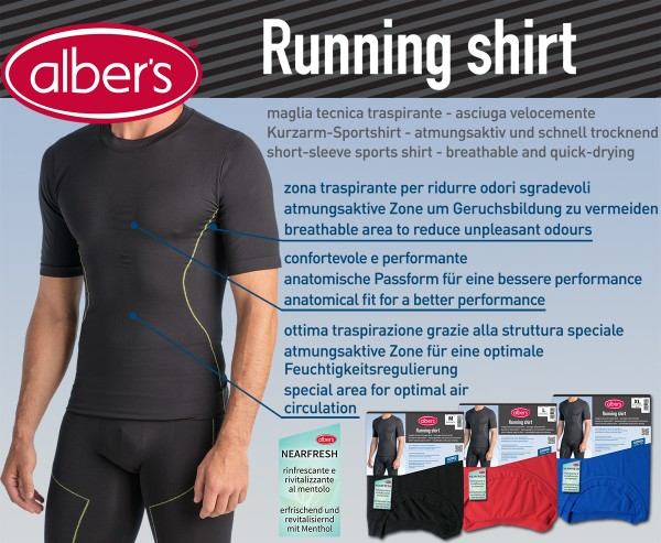 Albers Running Shirt Crna XL