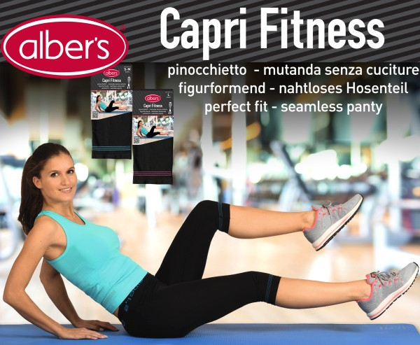 Albers Capri Fitness Helanke Perla 3/4 S-M
